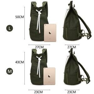 Image 2 - Men Gym Bag Drawstring Backpack Bucket Sports Basketball Bags For Women Fitness Canvas Rucksuck Sac De Sport Mochila XA718WA