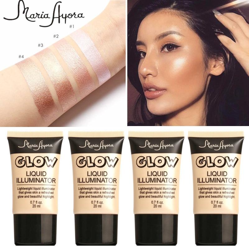 Gold highlight makeup