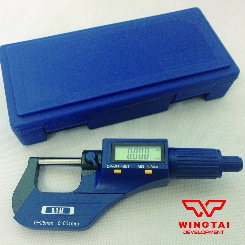 0.001mm Digital Micrometer / Thickness Gauge For Plastic  Film,Paper 25 50mm three button digital outside micrometer for leather film and paper