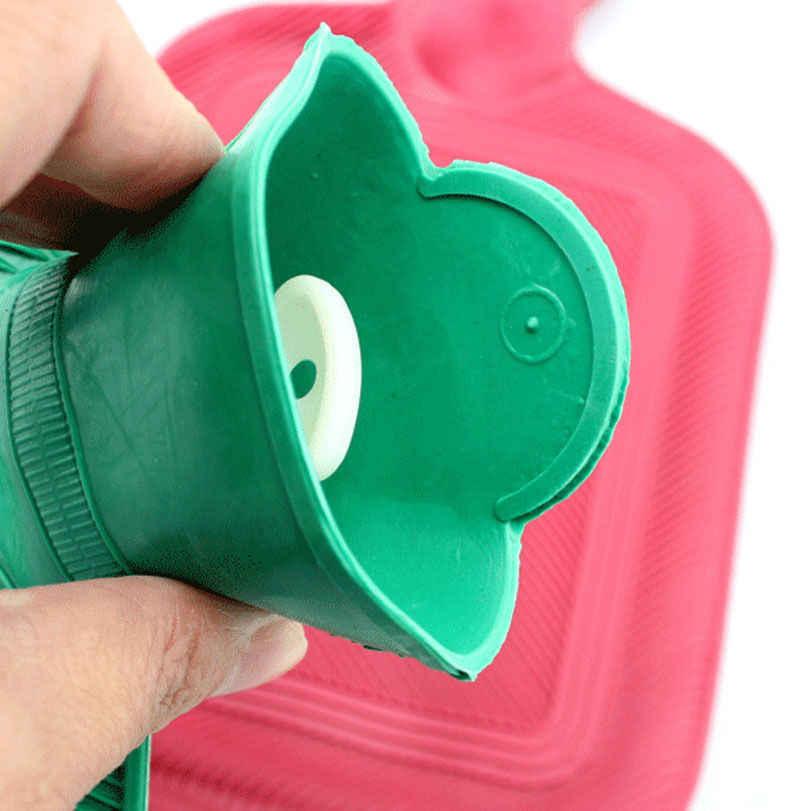 كيس الماء الساخن زجاجة الماء الساخن سميكة عالية الكثافة المطاط اليد الاحترار زجاجات مياه الشتاء أكياس الماء الساخن زجاجة 21x11 سنتيمتر