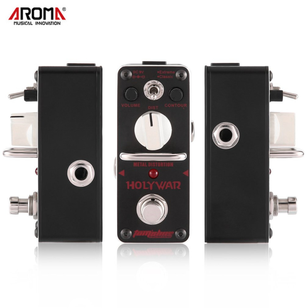 Aroma AHOR-3 HOLY WAR Guitar Pedal Classic Metal Distortion Electric Guitar Equalizer Effect Pedal True Bypass Guitar Parts aroma ach 1 true bypass guitar electric effect pedal chorus low noise metal effectors guitar parts