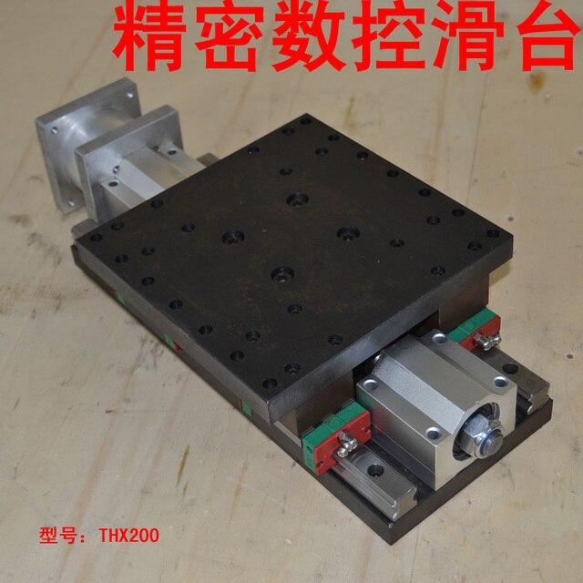 motorized slide table  cnc linear rail z axis steel frame 2505 Ball screw guider travel 100mm nema34 stepper motor mounter