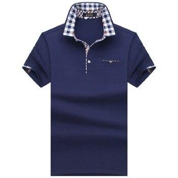 2019 Polo hommes chemise hommes à manches courtes chemises solides Camisa Polos Masculina décontracté coton grande taille 7XL 8XL 10XL marque hauts t-shirts