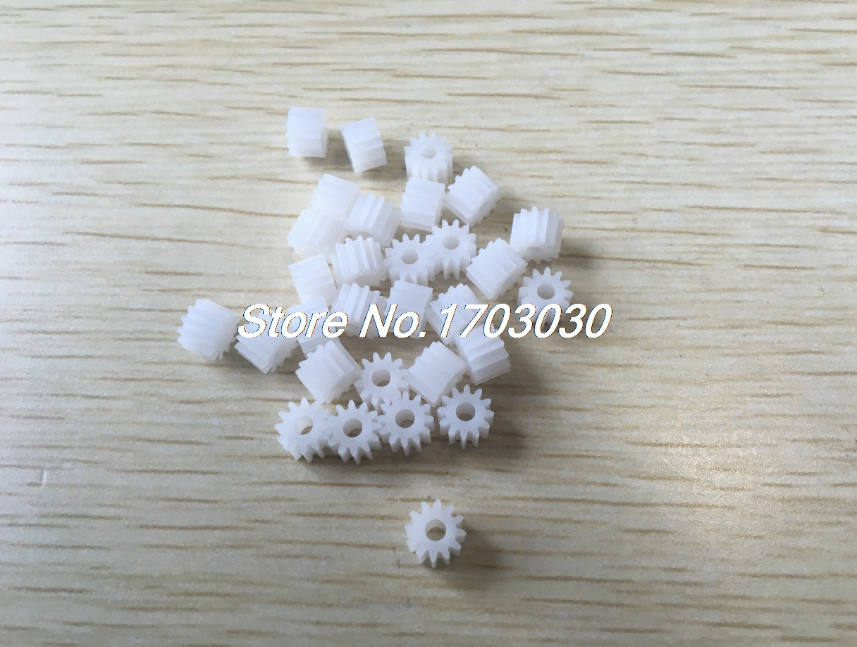 20Pcs 12-Teeth Plastic Gear Cog Wheel for 2.5mm RC Toy Electric Motor Spindle
