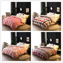 decorUhome Berber Fleece Blanket Weight Blanket With Zipper As Duvet Cover Soft Throw For Winter Double Layer Thick Yarn Blanket