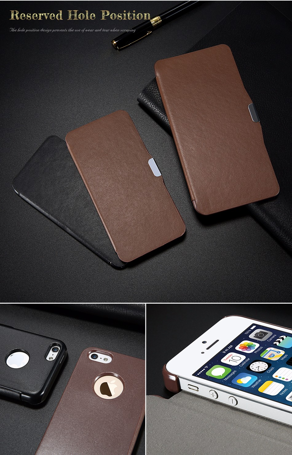leather case for iPhone 5 6 (6)