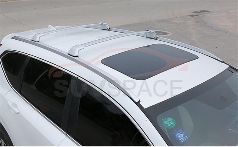2 Pcs Silver Cross Bar Fit For Honda Crv Cr V 2017 2018 2019 2020 Aluminum Crossbar Roof Rail Rack Roof Racks Boxes Aliexpress