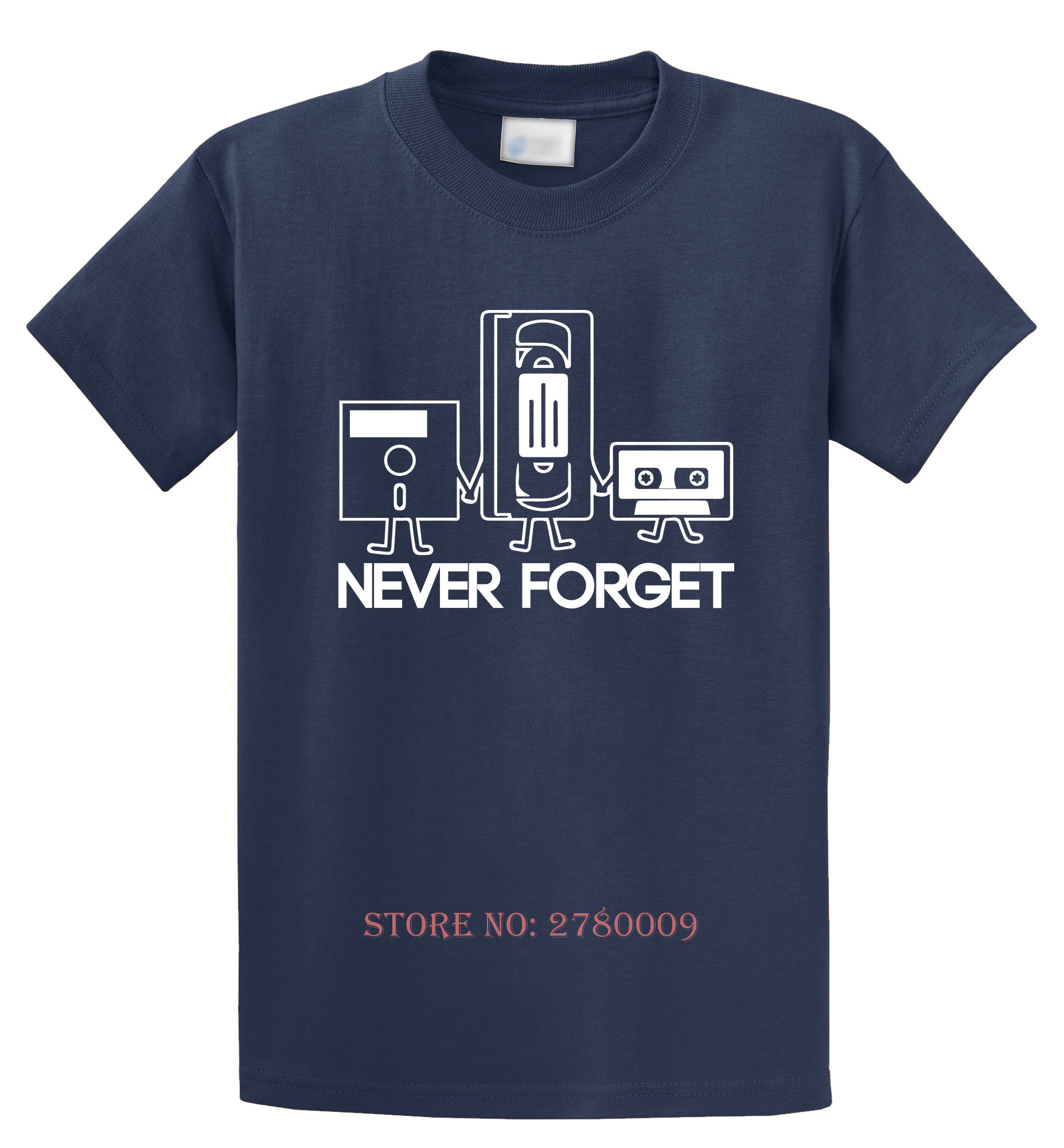 Never Forget Funny T Shirt Floppy Disc VHS Cassette Tech Geek Gift ...
