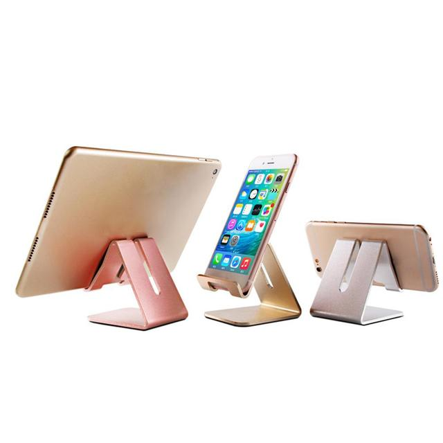 Innovative Aluminum Alloy Cell Phone Tablet PC Desk Holder Universal Mount Metal Foldable Stand For Iphone Ipad Samsung Tablet