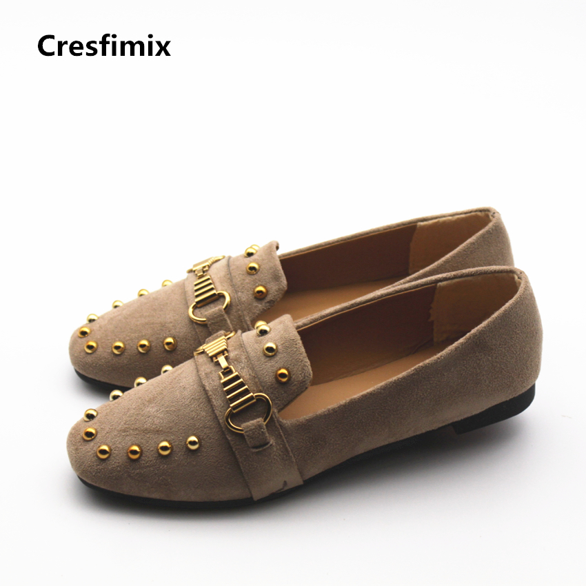 Cresfimix zapatos de mujer women casual black flock flat shoes lady leisure street stylish slip on flats female cute shoes cresfimix zapatos de mujer women fashion pu leather slip on flat shoes female soft and comfortable black loafers lady shoes