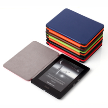 """GOOYIYO-Para Amazon Kindle Voyage 6 """"E-book e-reader Tríptico Case Tablet Soporte de la Cubierta de Cuero Magnética de LA PU de Alta Calidad Shell"""