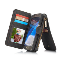 2 In1 Luxury Genuine Leather Magnet Flip Case For Samsung Galaxy S7 S7 Edge Phone Bag