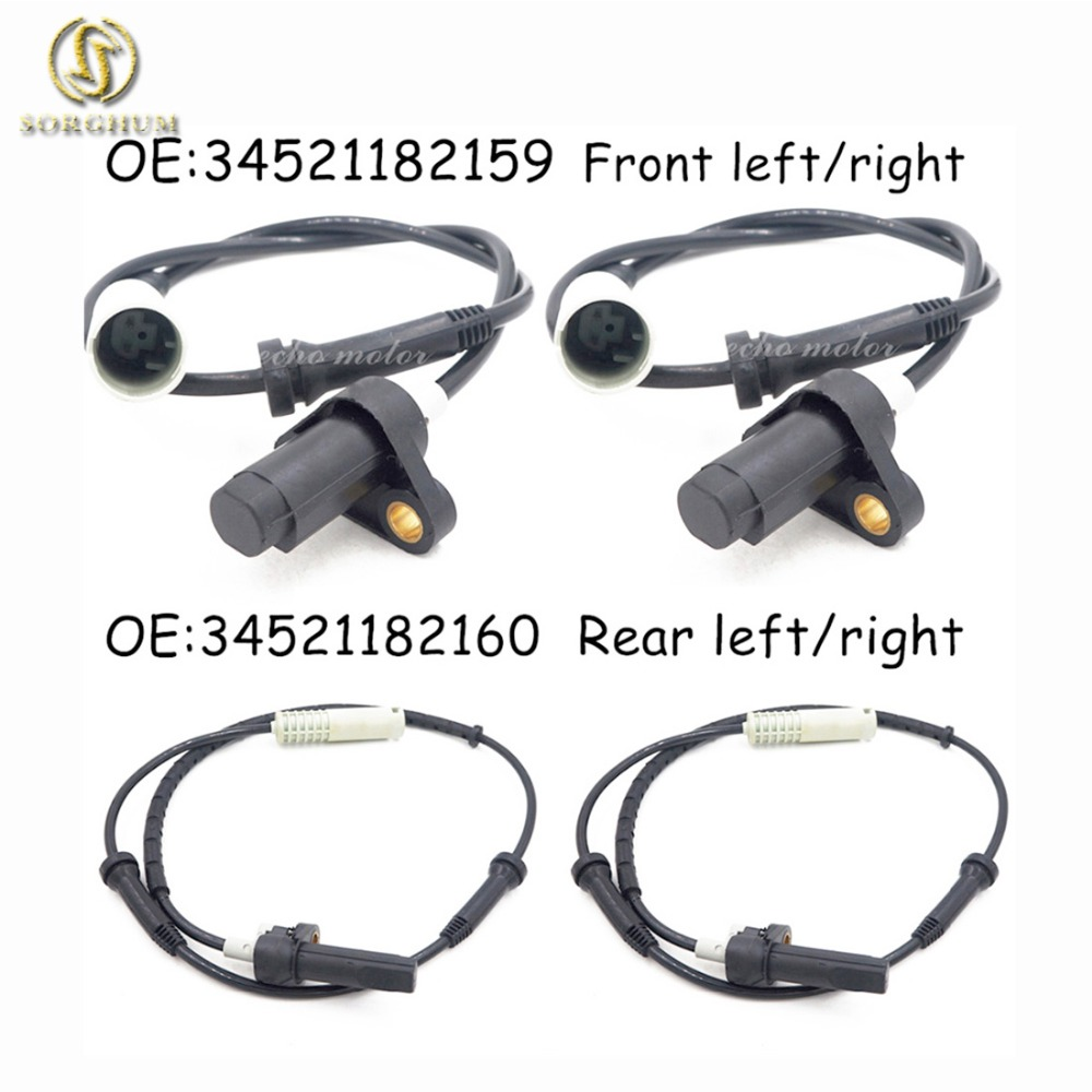 New Set(4) ABS Wheel Speed Sensor Front Rear Left Right For 97 98 BMW 528i 540i E39 34521182159 & 34521182160-in ABS Sensor from Automobiles & Motorcycles    1