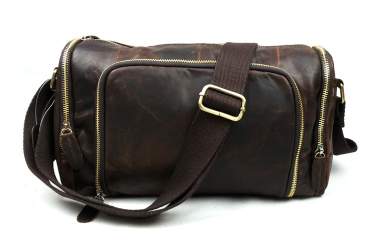 Nesitu Vintage 100% Guarantee Real Genuine Leather Cowhide Cross Body Small Men Messenger Bags Shoulder Bags #M349