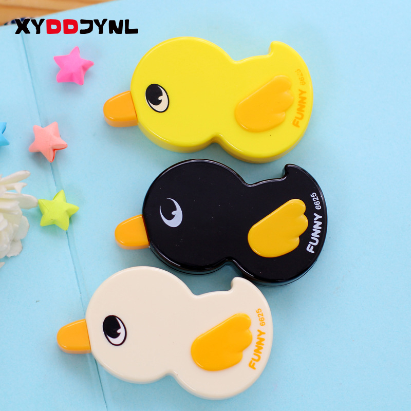 Kawaii Duck Cartoon Animals Correction Tape Correction Fluid School & Office Supply For Student Writing Gift Papelaria 1 Pcs