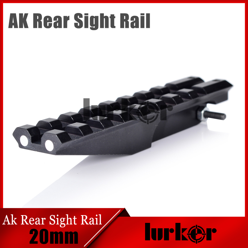 HLURKER AK Accessories Rear Sight Rail Scope Mount Rails Picatinny Weaver For Optics AEG AK47 AK74 Sight Rail                   HLURKER AK Accessories Rear Sight Rail Scope Mount Rails Picatinny Weaver For Optics AEG AK47 AK74 Sight Rail