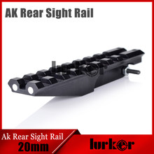 Hlurker Ak Accessoires Rear Sight Rail Scope Mount Rails Picatinny Wever Voor Optics Aeg AK47 AK74 Sight Rail(China)