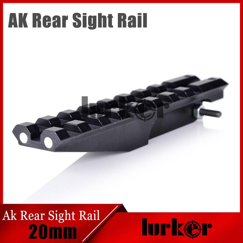 HLURKER AK accessoires Rail de visée arrière portée de montage Rails Picatinny tisserand pour optique AEG AK47 AK74 Rail de visée