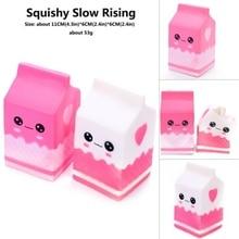 Squishy simulado alimentos Pu rebote lento yogur Souptoys descomprimido leche caja Super Soft Slow Rising Squeeze juguetes para niños