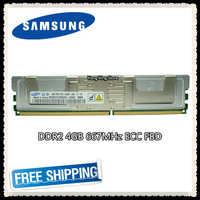 Samsung DDR2 4GB 8GB 667MHz Server memory PC2-5300F ECC FBD FB-DIMM Fully Buffered RAM 240pin 5300 4G 2Rx4