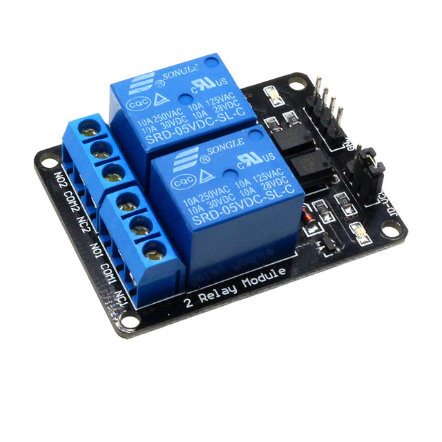 Glyduino 2 Channel New 5V Relay Module With Light Coupling Protection