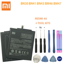BN30 BN41 BN43 BM46 BM47 Battery For Xiaomi Redmi Hongmi 4A 3S 3X 3 pro Note 4 4X MTK Helio X20 global Snapdragon 625 Bateria