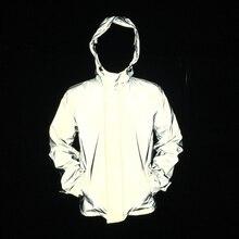 Hommes veste réfléchissante hip hop coupe vent sans logos automne femmes et hommes vestes et manteaux jaqueta masculina 4xl