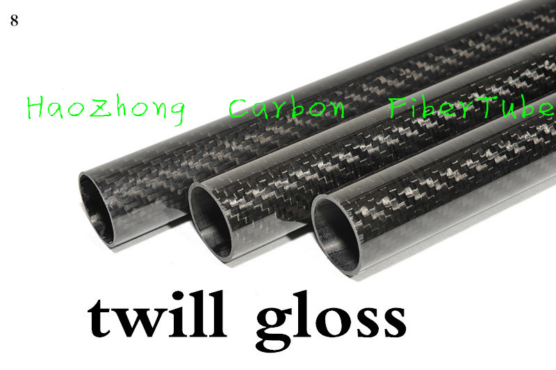 3k Carbon Fiber Tube 24mm 25mm 26mm 27mm 28mm 29mm 30mm 32mm 33mm 34mm X1000mm (Roll Wrapped) High Strength and Light Weight 500mm 3k carbon fiber tube 50 44 50 46 50 47 50 48 60 56 60 57 roll wrapped light weight high strength
