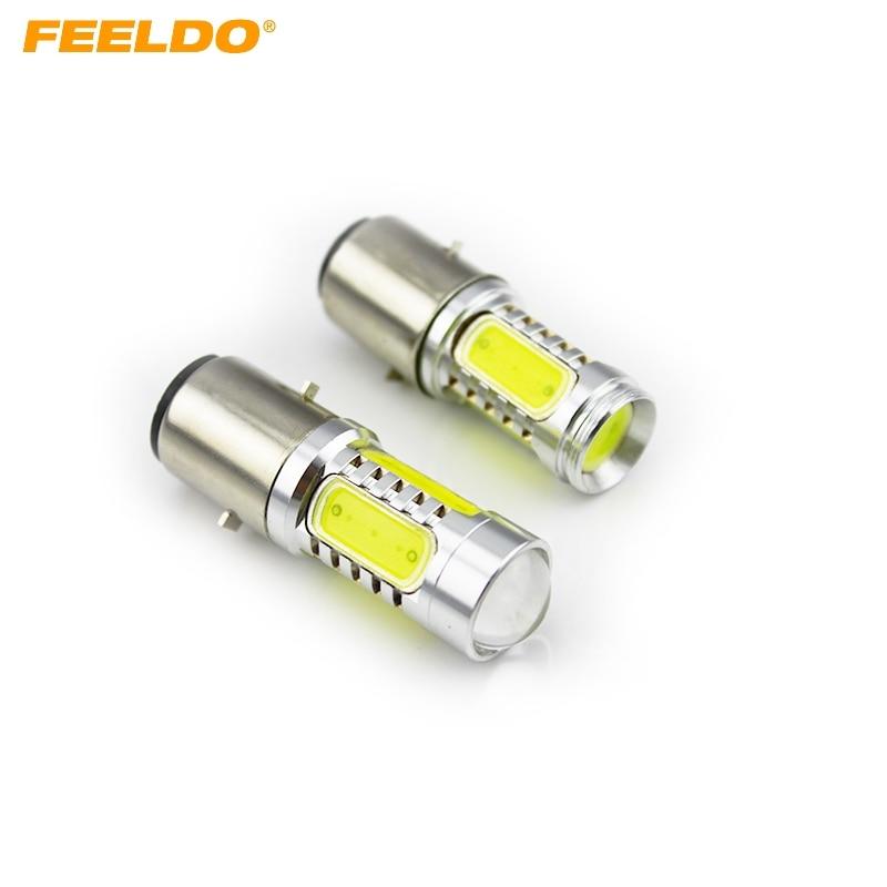 FEELDO 2Pcs White Car Auto 1157 BAY15D 1.5Wx4 330~380lm High Power LED Light Bulb Brake Lights #FD-3457