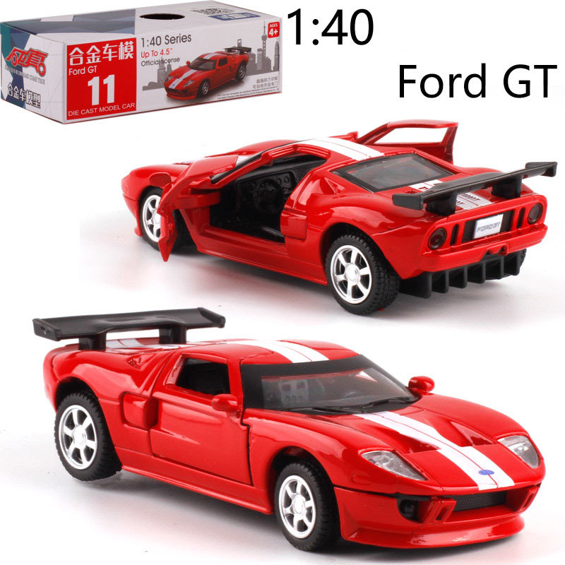1:40 Scale <font><b>Ford</b></font> GT Alloy Pull-back car Diecast Metal <font><b>Model</b></font> Car For Collection Friend Children Gift image