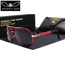 QUEENS KISS men polarized aviator sunglasses luxury brand designer polaroid driving sun glasses eyewear for male shades oculos