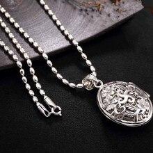 Новое 925 серебряное ожерелье с кулонами Мужские Винтажные цепи коробка стерлингового серебра подвески