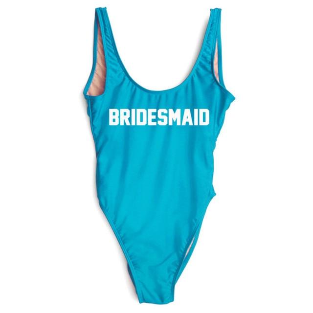 bd66e01157 Bachelorette Party Decoration Bridesmaid Bathing Suit Bridesmaid Gift Bridal  Party Favor For Guest