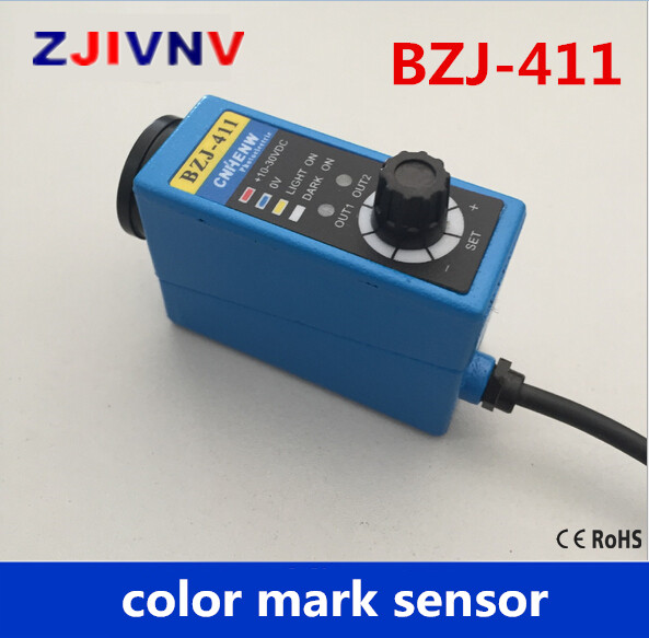 BZJ-411 Packing Machine photocell switch color mark Sensors Auto tracking/rectify deviation, auto detection photoelectric eyes color mark sensor photoelectric switch for packing machine bzj 313