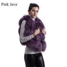 Pink Java QC8001 natural real fox fur vests jackets for winter women comes in