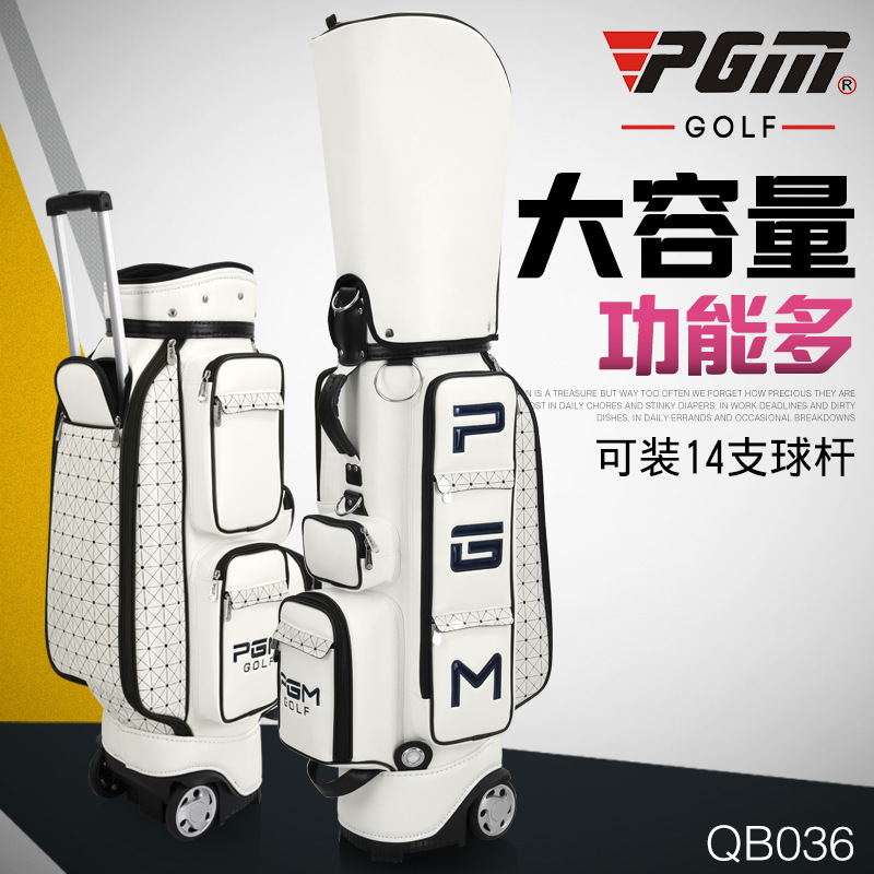 New PGM Golf Bags Standard Bags Golf Bags Women Specials big capacity holding 14pcs golf clubs PU material A4738 pgm genuine golf standard durable bag waterproof lady golf capacity standard ball bag embroidered package contain full set club