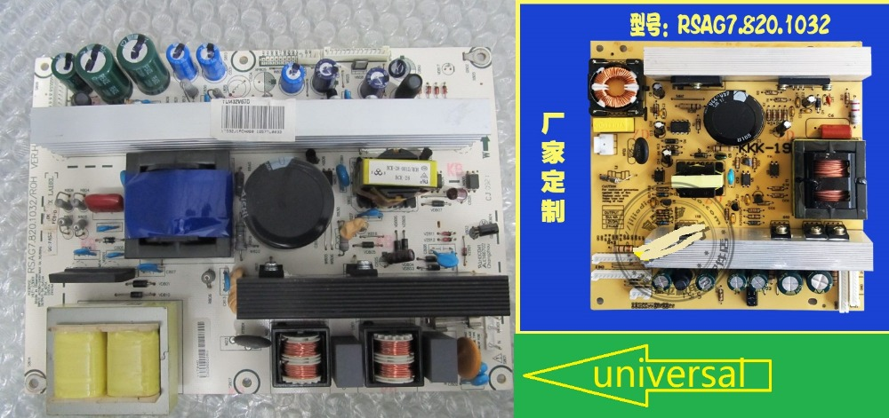 RSAG7.820.1032/ROH New Unversal LCD Power Board Good Working rsag7 820 4737 roh led39k300j led40k160 good working tested