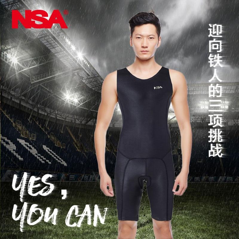Nsa Piece Sleeveless Triathlon Suit For Men And Women Running Swimsuit Apparel 4227 кабель titech tt nsa