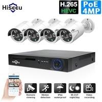 H.265 48 V 8CH 4MP POE система NVR Открытый PoE IP камера CCTV Водонепроницаемая Камера Безопасности Инфракрасный Hiseeu