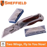 Sheffield S067216 Quick Change Folding Lock Back Utility Knife Paper Cutter Tool Hunting Knife Survival Knife