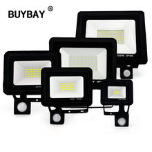 LED Motion Sensor Flood Light 220V Floodlights Lamp Outdoor IP66 Reflector 10W 20W 30W 50W 100W Foco Led Exterior Spot Light(China)