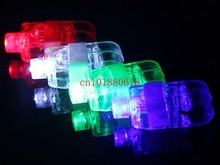 1000pcs/lot Free Shipping LED Finger Light Laser finger beams Beams Ring Torch For Party Wedding celebration(China)