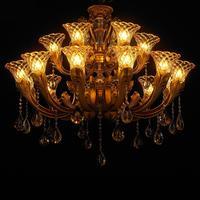 Современный роскошный атмосферное хрустальная люстра Гостиная цинковый сплав Американский Винтаж свечи лампы антикварная Стиль люстры