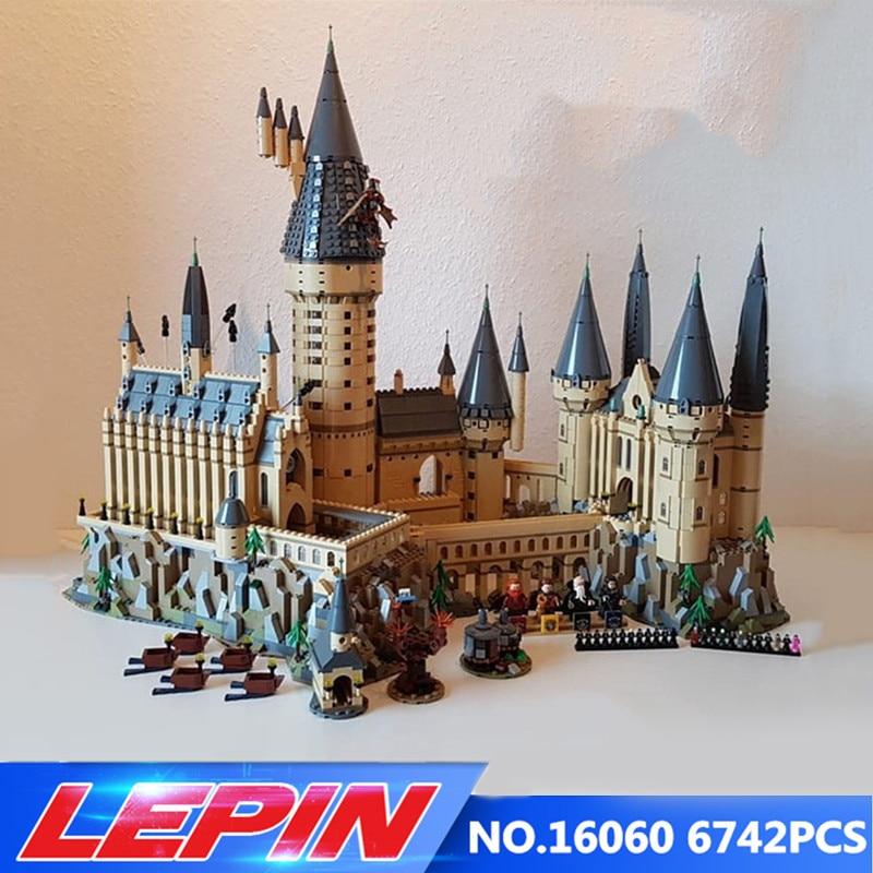 Lepin 16060 Harry Film Potter Serie Die Legoinglys 71043 Hogwarts Castle Weihnachten Spielzeug 16042 Pirates serie Die stille
