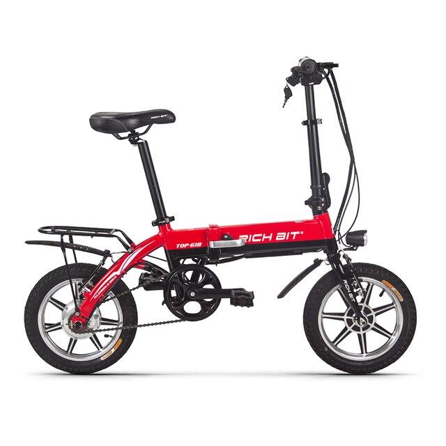 Richbit дюймов 14 дюймов портативный городской складной электрический велосипед мини складной велосипед В 250 Вт * 36 В 10.2Ah литиевая батарея электрический велосипед городской Велоспорт