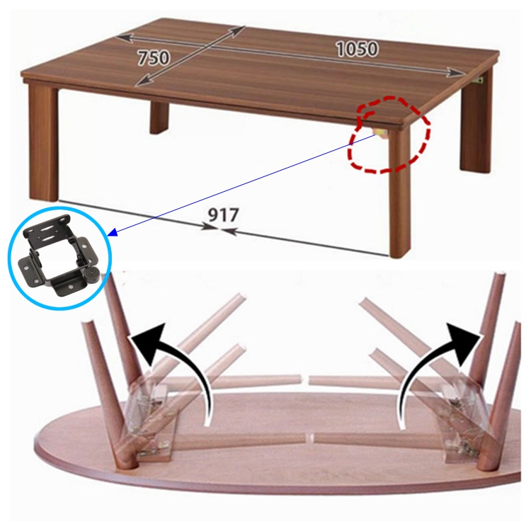 Furniture Table Leg 90 Degree Locking Hinge/folding Table Bracket In  Cabinet Hinges From Home Improvement On Aliexpress.com | Alibaba Group