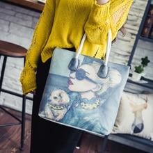 Mode vintage 2017 frauendruckhandtasche kurze der trend der großen tasche damenhandtaschen kreuzkörper schulter-körper tasche bild