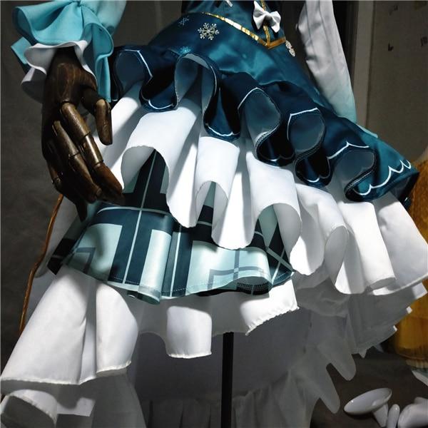 Vocaloid 2019 New Hatsune Miku Princess Cosplay Dress Girl s Cute Lolita Dress With Crown Full Set H