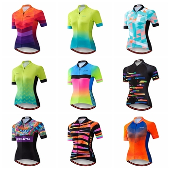 JPOJPO Summer Cycling Jersey Women 2020 Pro Team Bicycle Clothing Maillot Ciclismo Quick Dry MTB Bike Jersey Top Cycling Shirt santic triathlon cycling jersey men 2018 pro team quick dry bike jersey cycling clothing swimming running bicycle skinsuit wear