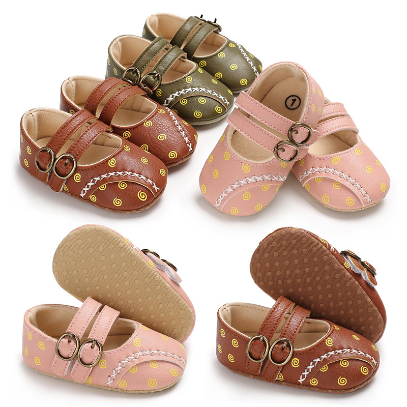 New style print First walkers Crib Brand baby Toddler Baby Moccasins soft bottom Pu leather Baby Shoes 0-18 Months